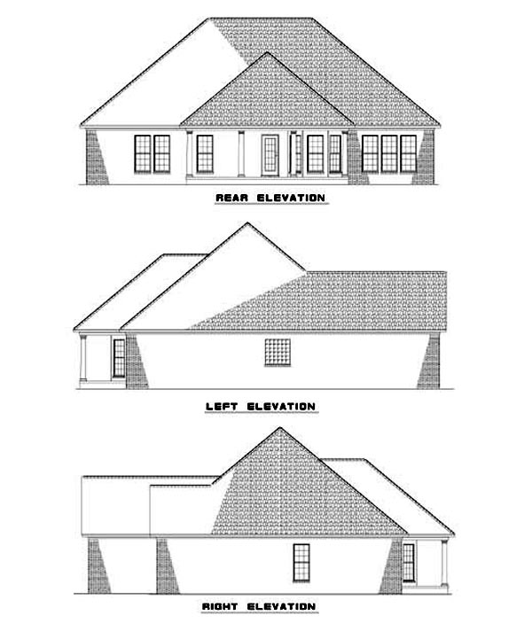 Country House Plan 61197 Rear Elevation