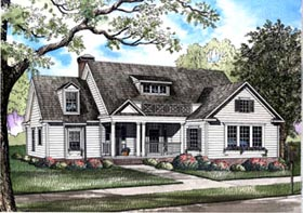 Traditional House Plan 61198 Elevation