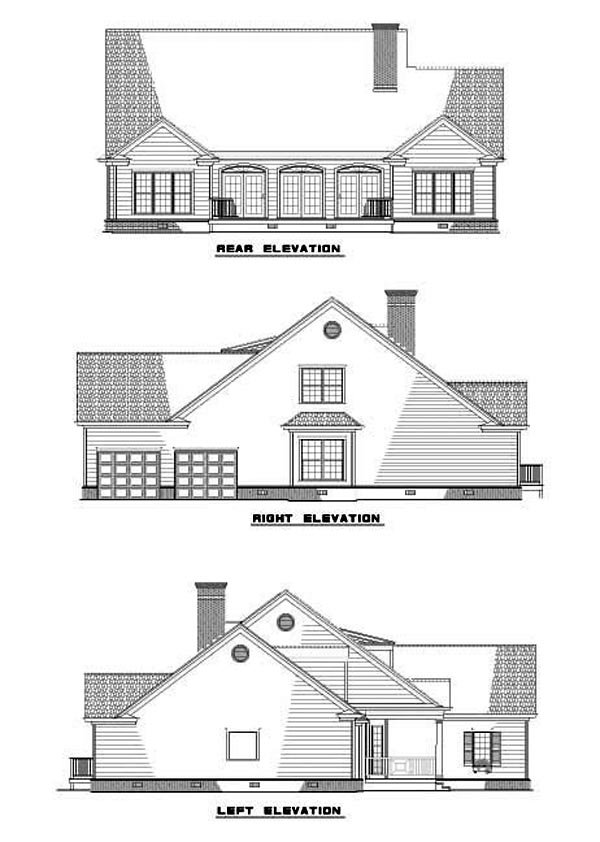 Traditional House Plan 61198 Rear Elevation