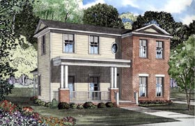 House Plan 61200 | Colonial Style Plan with 1559 Sq Ft, 3 Bedrooms, 2 Bathrooms, 2 Car Garage Elevation