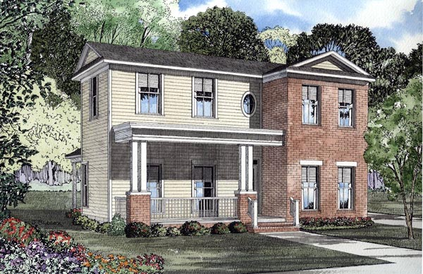 Colonial House Plan 61200 Elevation