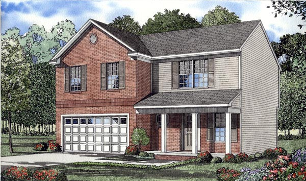 Colonial House Plan 61206 Elevation