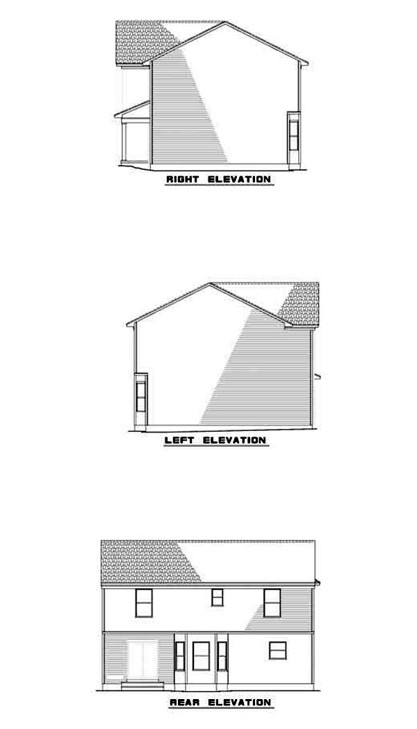 Colonial House Plan 61206 Rear Elevation