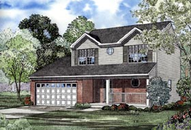 House Plan 61209 | Traditional Style Plan with 1598 Sq Ft, 3 Bedrooms, 3 Bathrooms, 2 Car Garage Elevation