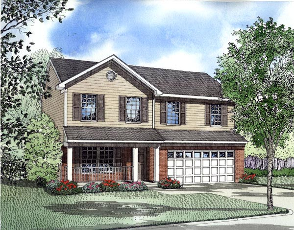 Traditional House Plan 61210 Elevation