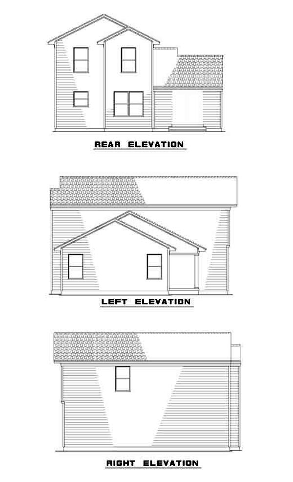 Traditional House Plan 61213 Rear Elevation