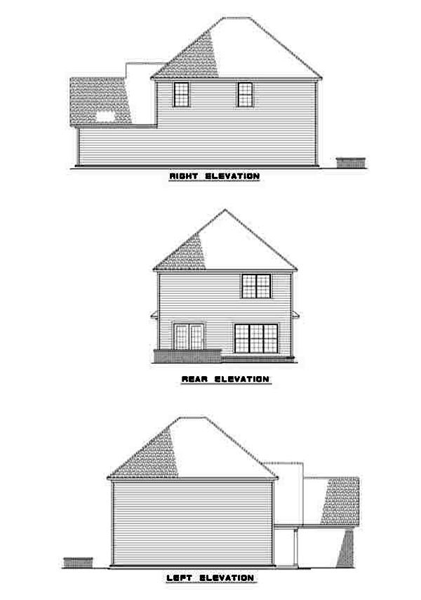 Traditional House Plan 61217 Rear Elevation