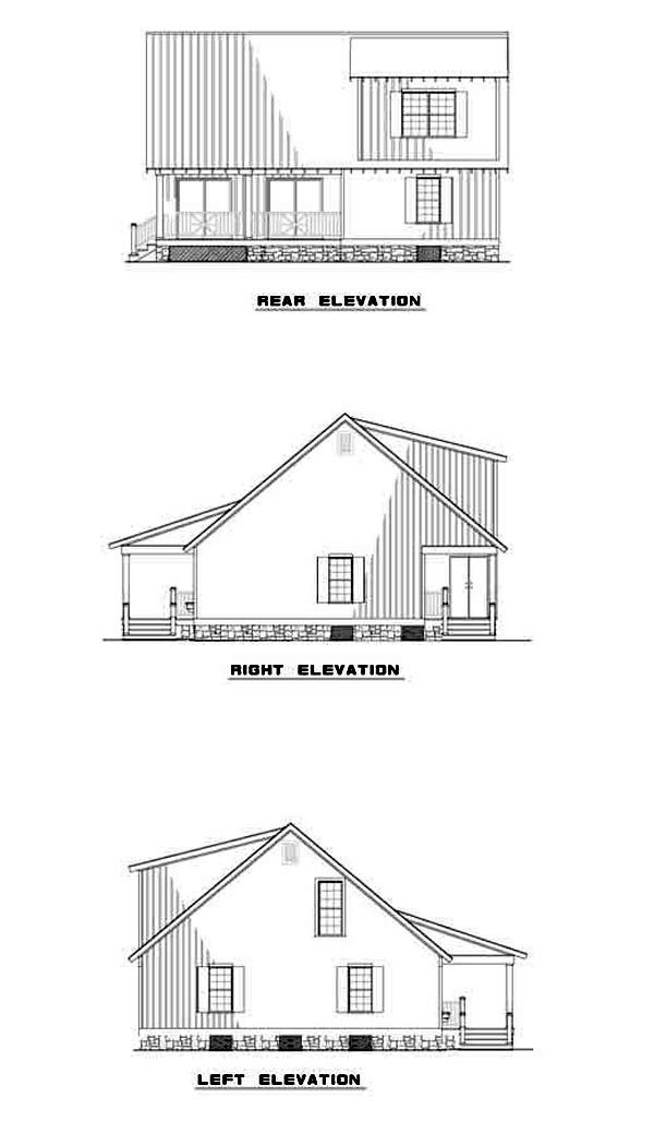 Country House Plan 61221 Rear Elevation