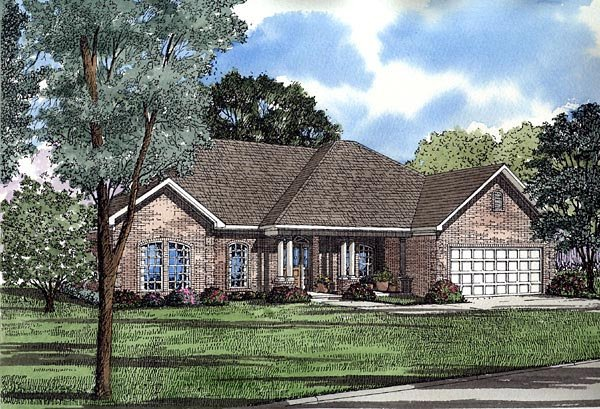European House Plan 61224 Elevation