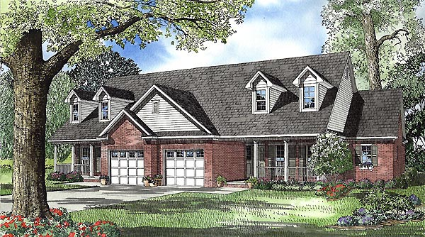 Country Multi-Family Plan 61226 Elevation