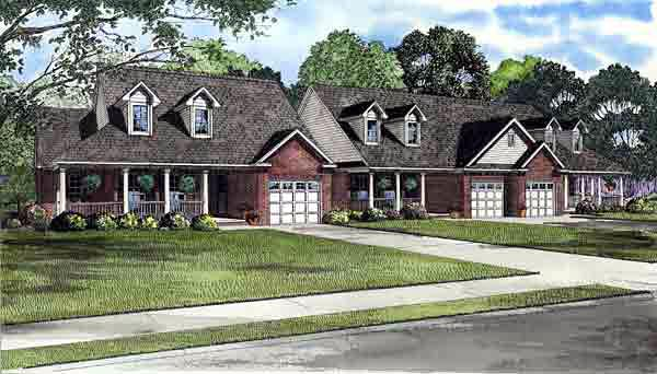 Country Multi-Family Plan 61228 Elevation