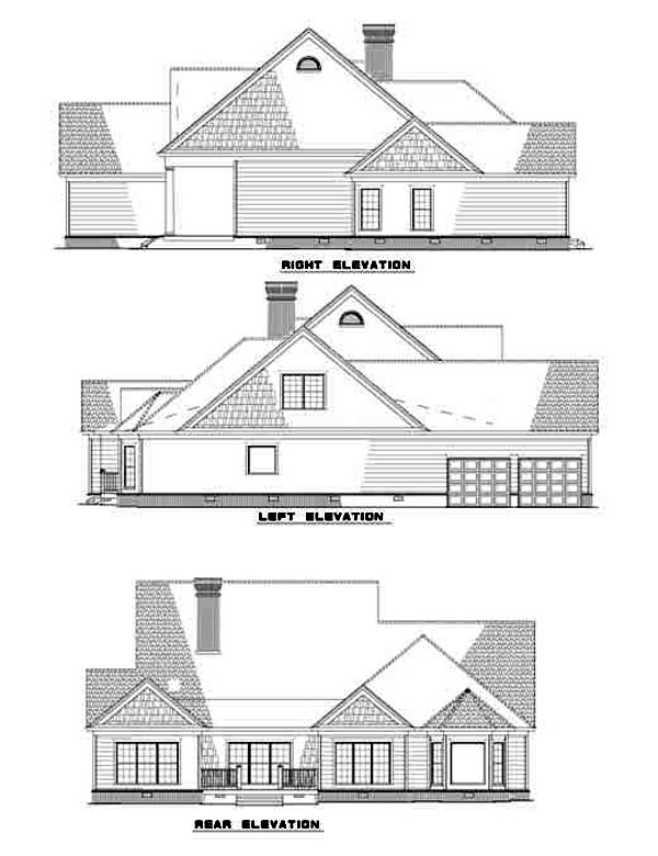 Colonial House Plan 61230 Rear Elevation