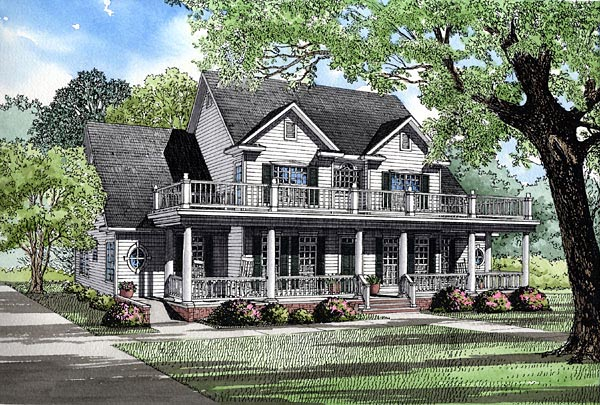 Colonial House Plan 61233 Elevation