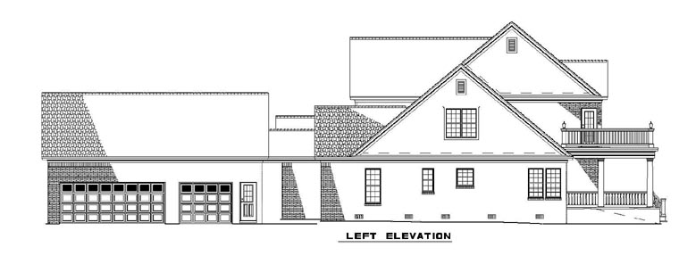 Colonial House Plan 61233 with 4 Beds, 4 Baths, 2 Car Garage Picture 1