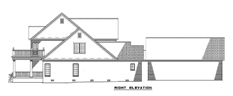 Colonial House Plan 61233 with 4 Beds, 4 Baths, 2 Car Garage Picture 2