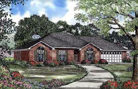 House Plan 61236 | European Style Plan with 1922 Sq Ft, 3 Bedrooms, 2 Bathrooms, 2 Car Garage Elevation