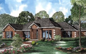 Contemporary House Plan 61240 with 4 Beds, 3 Baths, 3 Car Garage Elevation