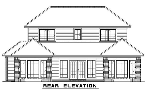 Contemporary House Plan 61242 Rear Elevation