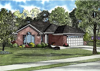 European Traditional House Plan 61244 Elevation