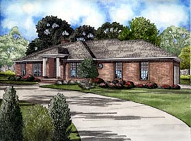 Traditional House Plan 61245 Elevation