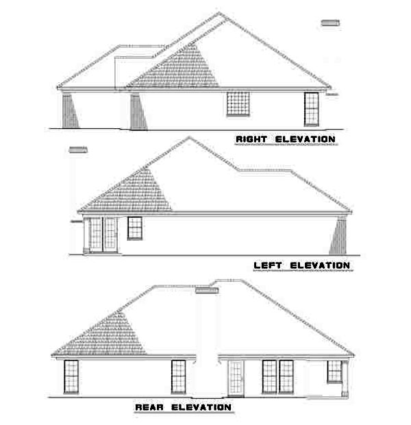 Traditional House Plan 61247 Rear Elevation
