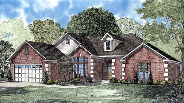 Contemporary House Plan 61254 with 4 Beds, 2 Baths, 2 Car Garage Elevation