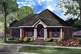 Colonial European House Plan 61255 Elevation