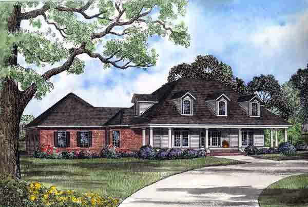 Colonial House Plan 61259 Elevation