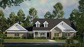 Country House Plan 61268 Elevation