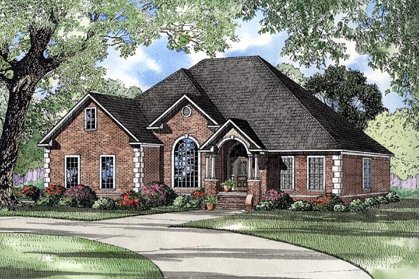 European House Plan 61269 Elevation
