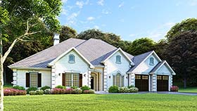 Traditional House Plan 61271 Elevation