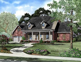 Cape Cod House Plan 61272 with 3 Beds, 3 Baths, 2 Car Garage Elevation