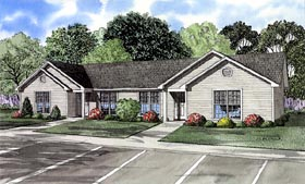 Ranch Multi-Family Plan 61274 with 6 Beds, 2 Baths Elevation