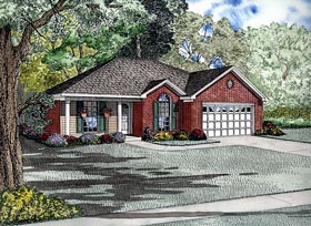 European Traditional House Plan 61281 Elevation
