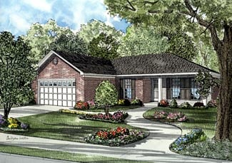 Colonial House Plan 61285 Elevation