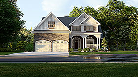 House Plan 61293 | Country Style House Plan with 2470 Sq Ft, 4 Bed, 3 Bath, 2 Car Garage Elevation