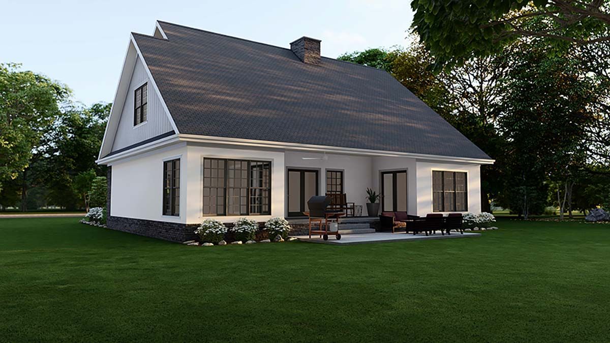 Country House Plan 61293 with 4 Beds, 3 Baths, 2 Car Garage Picture 1
