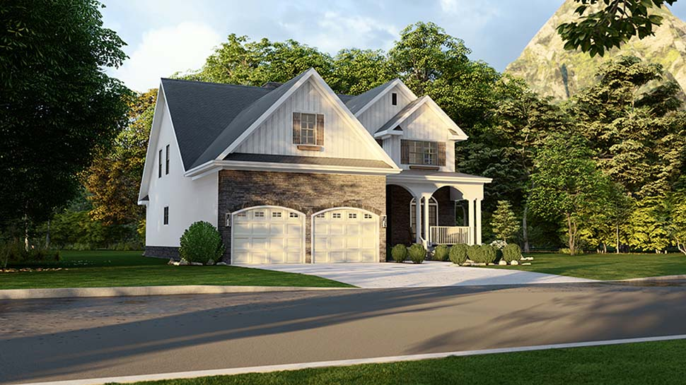 Country House Plan 61293 with 4 Beds, 3 Baths, 2 Car Garage Picture 2