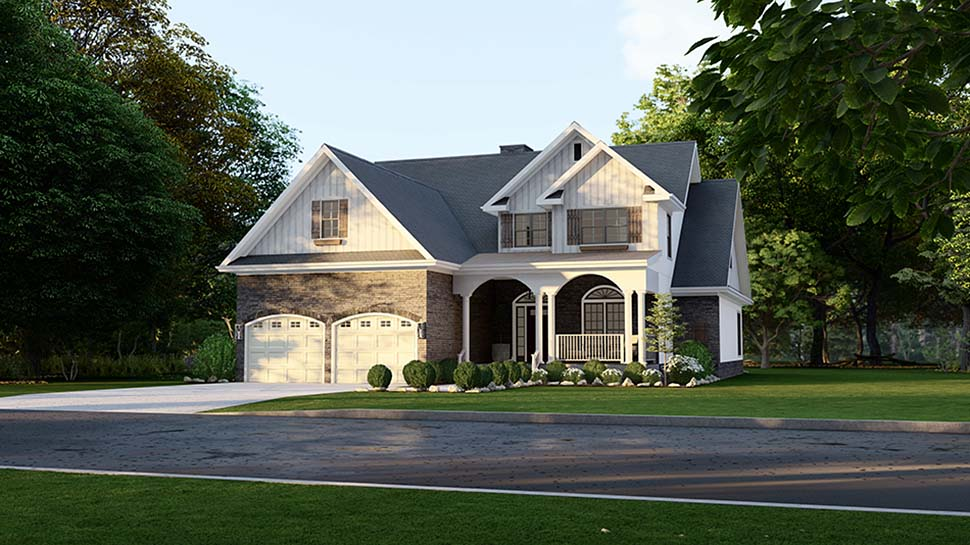 Country House Plan 61293 with 4 Beds, 3 Baths, 2 Car Garage Picture 3