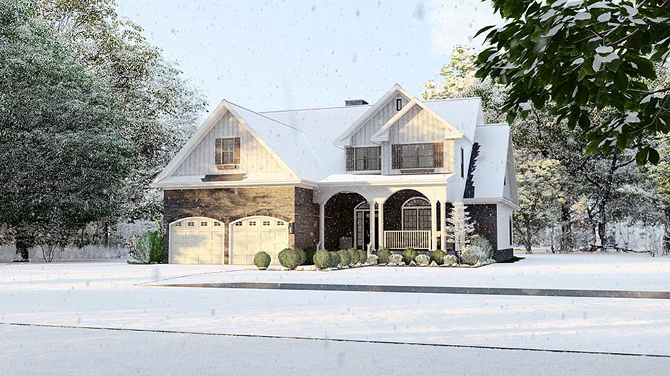 Country House Plan 61293 with 4 Beds, 3 Baths, 2 Car Garage Picture 4