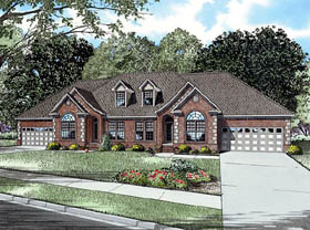 European Multi-Family Plan 61294 with 6 Beds, 6 Baths, 4 Car Garage Elevation