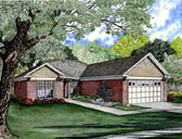 Plan Number 61295 - 1361 Square Feet