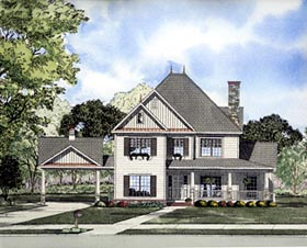 House Plan 61299 | Victorian Style Plan with 2516 Sq Ft, 5 Bedrooms, 4 Bathrooms, 2 Car Garage Elevation