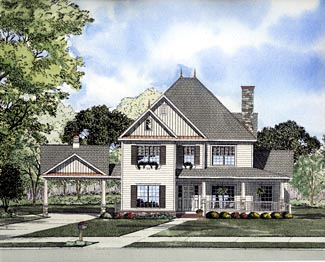 Victorian House Plan 61299 Elevation