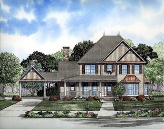 Victorian House Plan 61300 Elevation