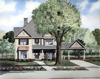 Traditional House Plan 61301 Elevation