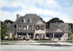 Victorian House Plan 61303 with 4 Beds, 4 Baths, 2 Car Garage Elevation