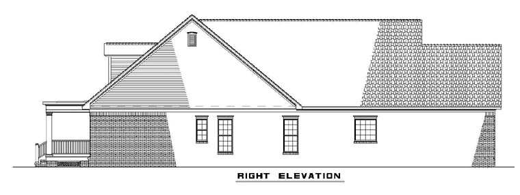 One-Story, Southern House Plan 61304 with 3 Beds, 2 Baths, 2 Car Garage Picture 2