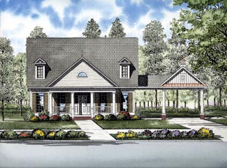 Cape Cod House Plan 61308 with 3 Beds, 3 Baths, 2 Car Garage Elevation