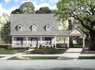 Cape Cod House Plan 61309 Elevation